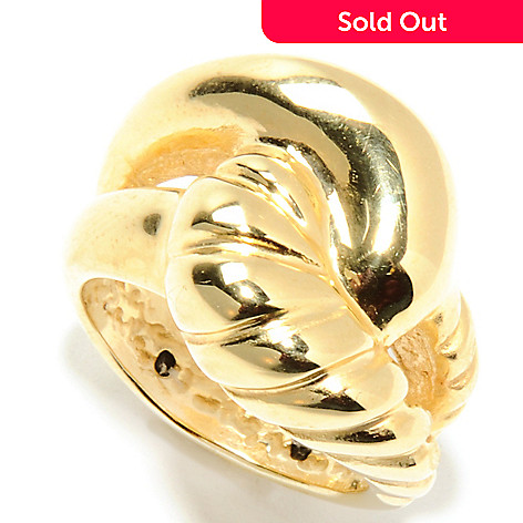 132-636 - Italian Designs with Stefano 14K Gold Artform ''Abbracci'' Ring