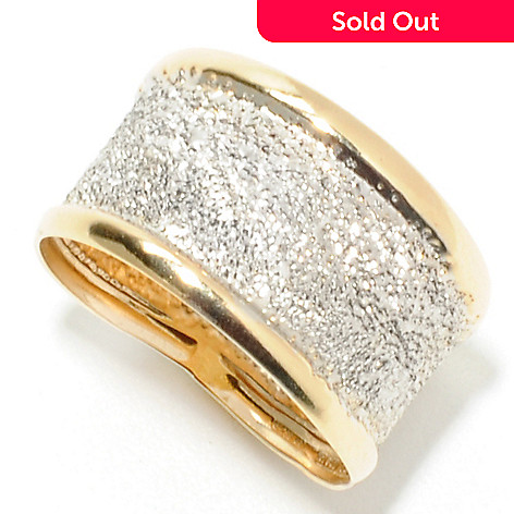 132-637 - Italian Designs with Stefano 14K Two-tone Gold Diamond Cut ''Tappeto'' Ring