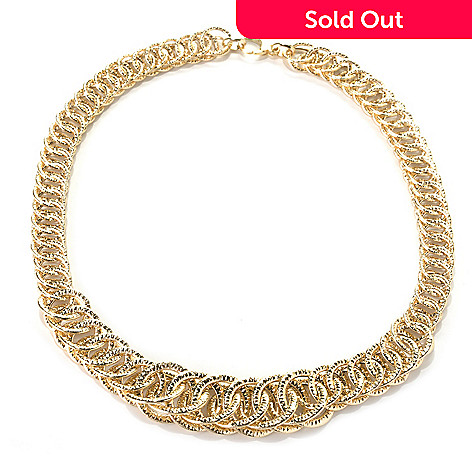 132-650 - Italian Designs with Stefano 14K Gold 18'' Graduated Reverso Necklace