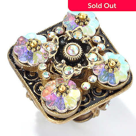 132-669 - Sweet Romance™ Aurora Borealis Crystal Northern Lights Ring