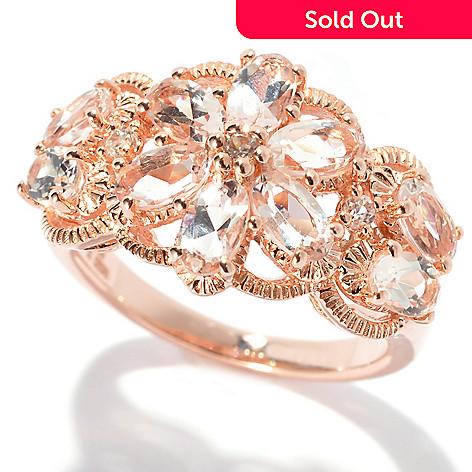 132-673 - NYC II® 2.09ctw Morganite & White Zircon Flower Ring