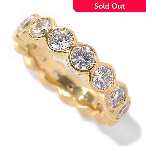 132-700 - Brilliante® 3.75 DEW Round Bezel Set Simulated Diamond Eternity Band Ring
