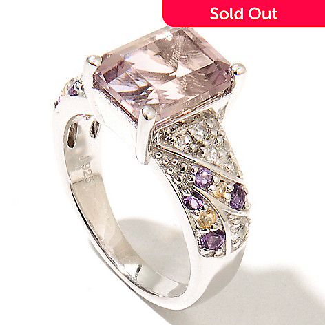 132-739 - Gem Insider Sterling Silver 3.79ctw Ametrine & Multi Gemstone North-South Ring