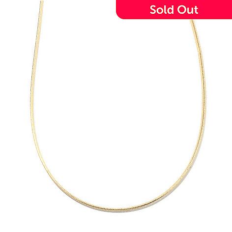 132-837 - Viale18K® Italian Gold Woven Omega Flex Chain, 2.80 grams