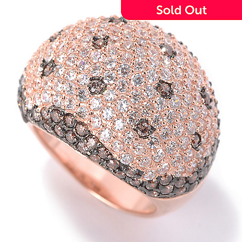 132-856 - Dare to Rare&Trade; by Lucy Rose Gold Embraced™ 3.60 DEW Simulated Diamond Wide Dome Ring
