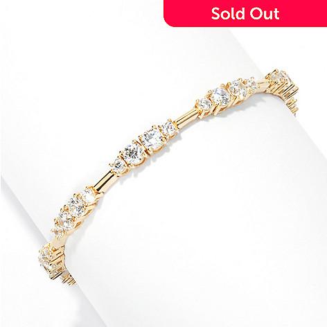 132-880 - Brilliante® Round Simulated Diamond Station Line Bracelet