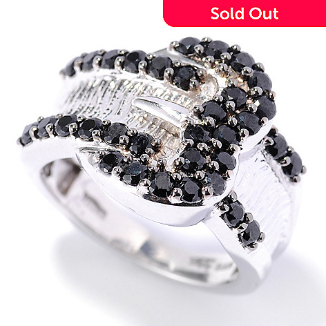 132-890 - NYC II™ Black Spinel Polished Buckle Ring