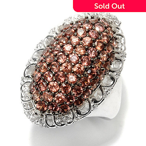 132-897 - NYC II™ 2.42ctw White & Mocha Zircon Elongated Oval Dome Ring