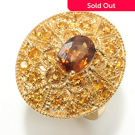 132-898 - NYC II 2.32ctw Mocha Zircon & Citrine Oval Ring