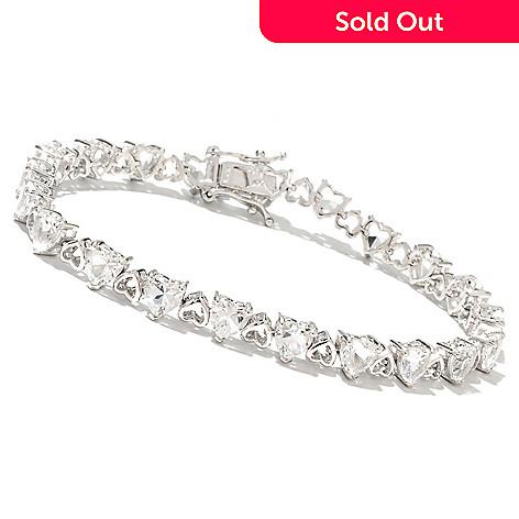 132-899 - NYC II 7.25'' Golconda White Topaz Heart Link Tennis Bracelet