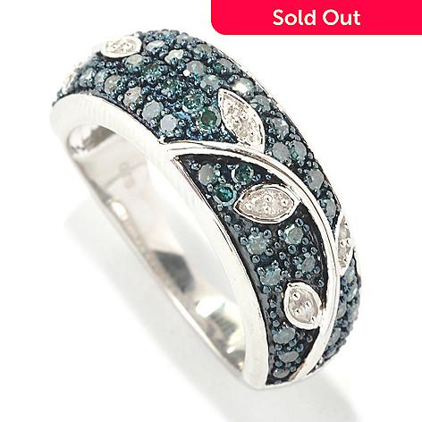 133-014 - Diamond Treasures® Sterling Silver 0.50ctw Fancy Diamond Leaf & Vine Stack Ring