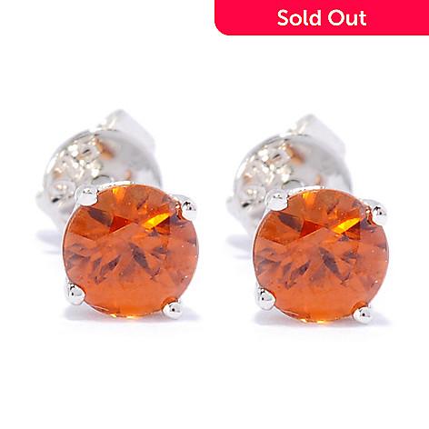 133-016 - Gem Treasures® Sterling Silver 5mm Zircon Stud Earrings