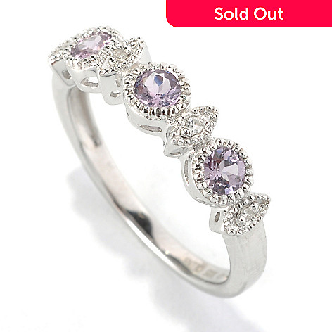 133-024 - NYC II Lavender Spinel & Diamond Stack Ring