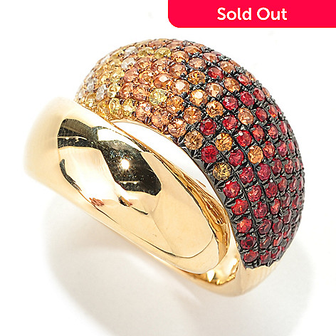 133-043 - EFFY 14K Gold 1.92ctw Fancy Colored Sapphire & Diamond Wrap-Around Ring