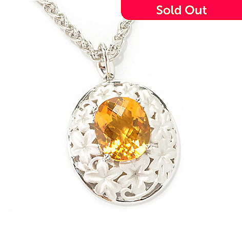 """133-091 - Effy Sterling Silver 4.50ctw Gemstone Floral Balissima Pendant w/ 18"""" Chain"""