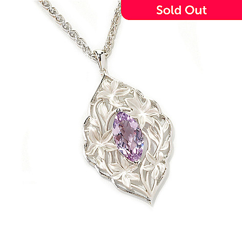 133-093 - EFFY Sterling Silver 3.00ctw Pink Amethyst Balissima Pendant w/ 18'' Chain