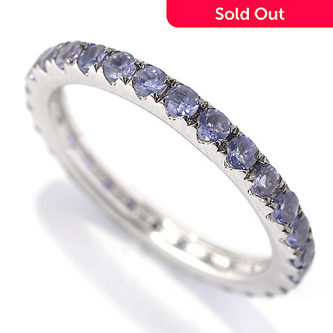 133-143 - Gem Treasures® Sterling Silver Gemstone Pave ''Kellie Anne'' Eternity Band Ring