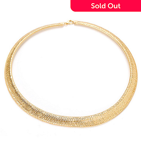 133-264 - Stefano Oro 14K Gold 18'' Omega Stretch Necklace, 7.63 grams