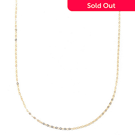133-268 - Stefano Oro 14K Gold Polished Fancy Oval Link Chain Necklace