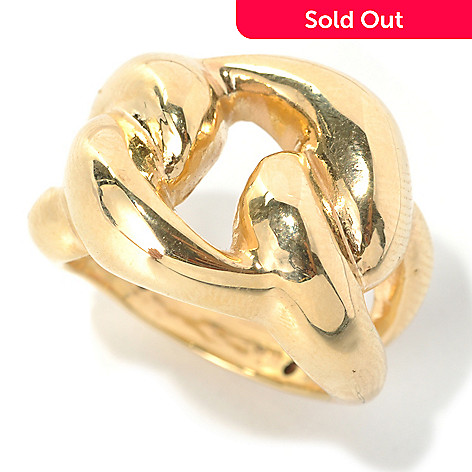 133-278 - Italian Designs with Stefano 14K ''Oro Vita'' Electroform Love Knot Ring