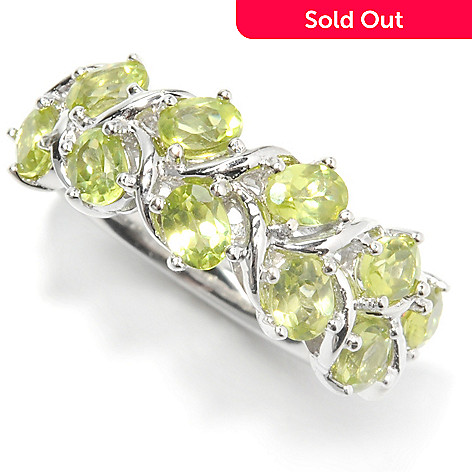 133-341 - Gem Insider™ Sterling Silver 2.00ctw Peridot Double-Row Braided Vine Ring