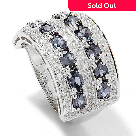 133-359 - Gem Insider Sterling Silver 3.15ctw Color Change Garnet & White Zircon Ring