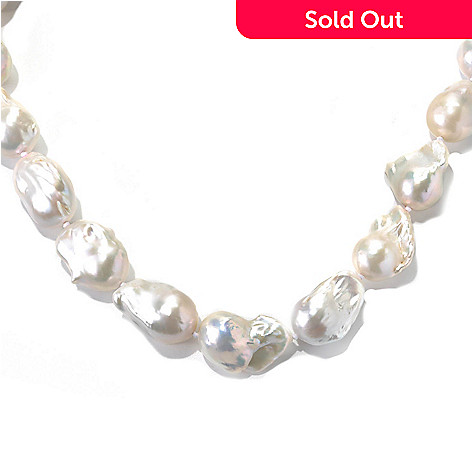 133-363 - 14K Gold 20'' 15-16mm Freshwater Nucleated Cultured Pearl Necklace