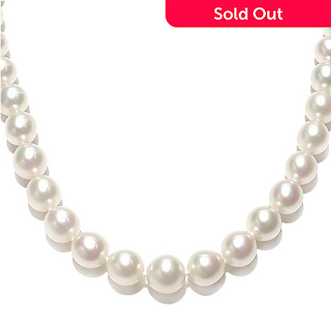 133-368 - 14K Gold 18'' 10-12mm Semi-Round White South Sea Cultured Pearl Necklace