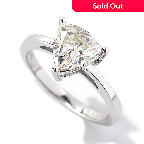 133-419 - Estrella Moissanite 14k White Gold Fancy Cut Solitaire Ring