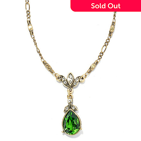 133-483 - Sweet Romance™ 19.25'' Crystal Teardrop Textured Lavalier Necklace w/ 2'' Extender