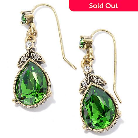 133-484 - Sweet Romance 1.25'' Crystal French Lavaliere Teardrop Earrings
