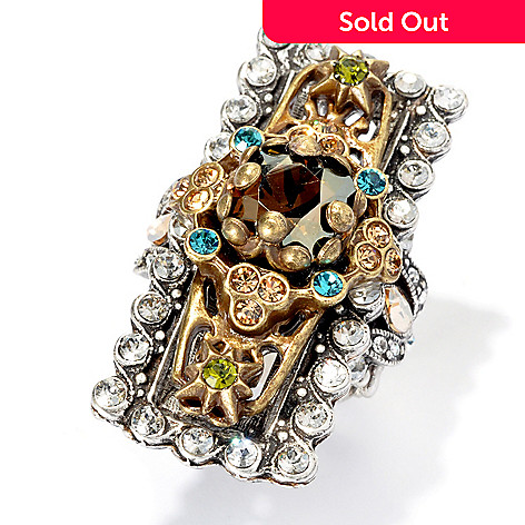 133-498 - Sweet Romance Multi Color Crystal Filigree North-South Ring