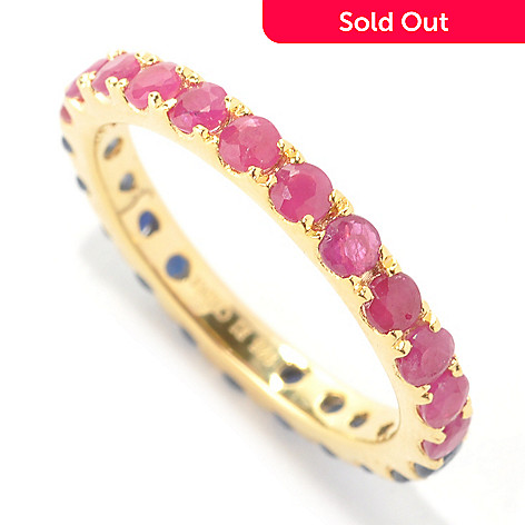 133-515 - NYC II™ 1.76ctw Ruby & Sapphire Double-Sided Eternity Band Ring
