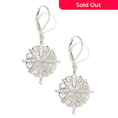 133-575 - NYC II 1.5'' 1.90ctw White Zircon Starburst Drop Earrings