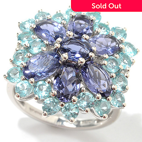 133-577 - NYC II™ 3.50ctw Iolite & Apatite Flower Ring