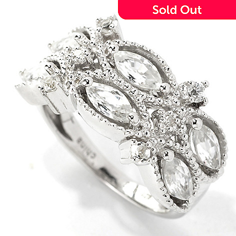 133-579 - NYC II® 1.80ctw White Zircon & Diamond Band Ring