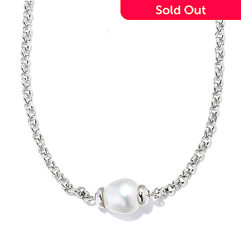 133-608 - Sterling Silver 18'' 12-13mm White Baroque South Sea Cultured Pearl Necklace
