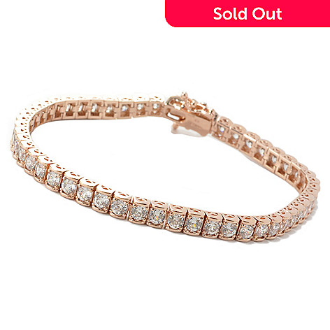 133-668 -  Brilliante® Round 100-Facet Simulated Diamond Line Bracelet