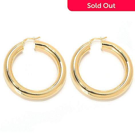 133-721 - Dettaglio™ Gold Embraced™ 1.75'' High Polished Round Hoop Earrings