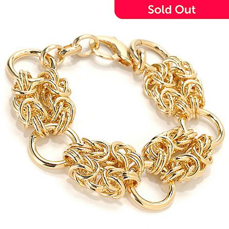 133-726 - Dettaglio™ 18K Gold Embraced™ 8.25'' Double Byzantine Station Bracelet