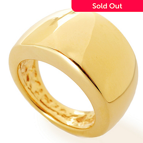 133-735 - Viale18K® Italian Gold Electroform Polished Wide Band Ring