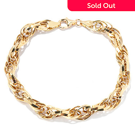 133-753 - Viale18K® Italian Gold 7.5'' High Polish Twist Design Link Bracelet