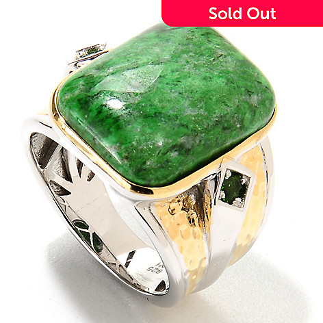 133-756 - Men's en Vogue II 20 x 15mm Cushion Cut Maw Sit Sit & Chrome Diopside Ring