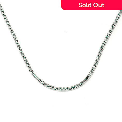 133-849 - Dallas Prince Sterling Silver Mesh Necklace Made w/ Swarovski® Elements