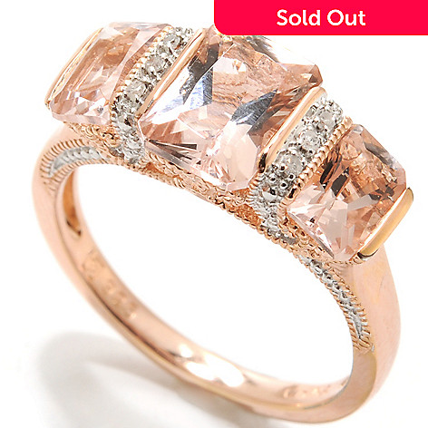 133-895 - NYC II™ 1.88ctw Tension Set Morganite & Diamond Ring