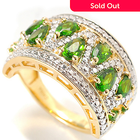 133-901 - NYC II 1.80ctw Pear Shaped Chrome Diopside Band Ring