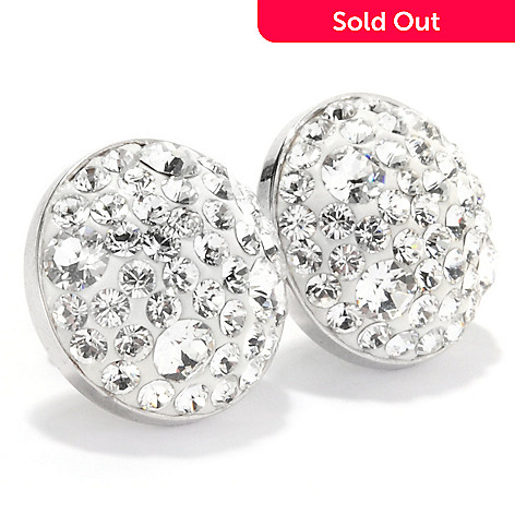133-939 - Adaire™ Sterling Silver Round Stud Earrings Made w/ Swarovski® Elements