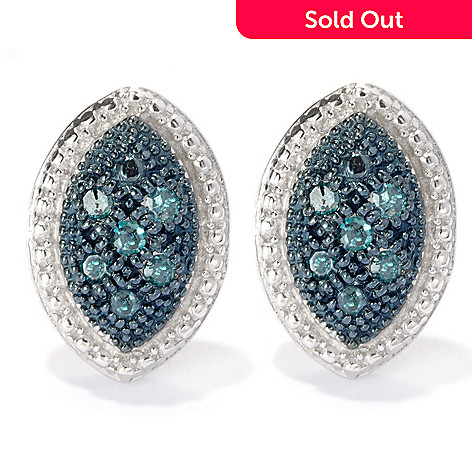 133-940 - Diamond Treasures® Sterling Silver 0.10ctw Fancy Color Diamond Beadwork Earrings