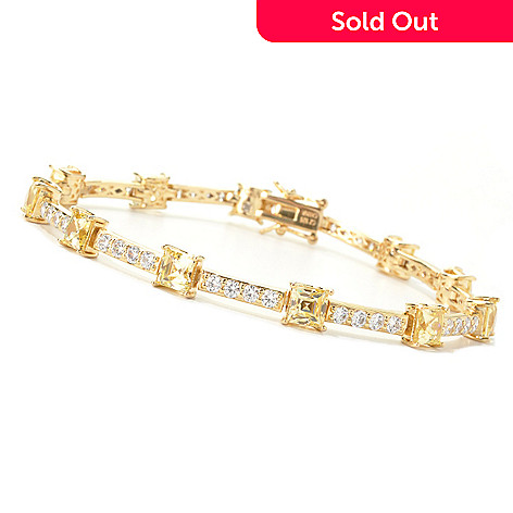 134-006 - TYCOON Gold Embraced™ Simulated Fancy Colored Diamond Line Bracelet