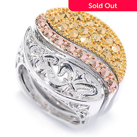134-135 - Dallas Prince Sterling Silver 3-Piece Ring Set Made w/ Swarovski® Marcasite